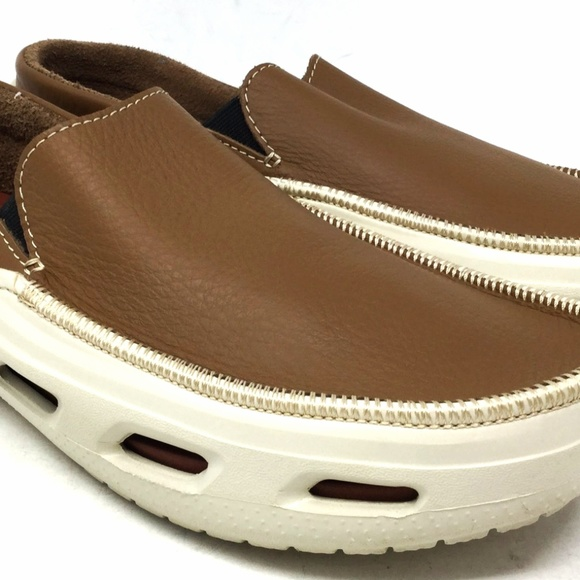 Crocs Men's Slip On Boat Shoes Size 10M Brown